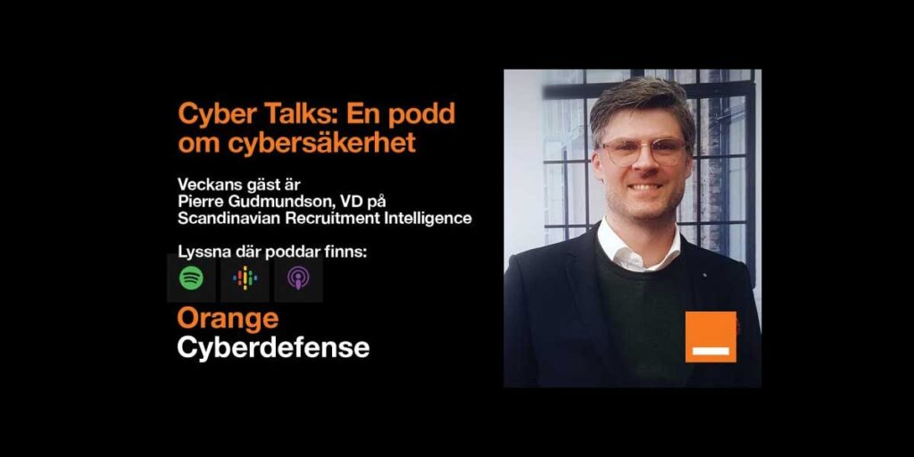 Cybert Talks säkerhetspodd Pierre Gudmundson